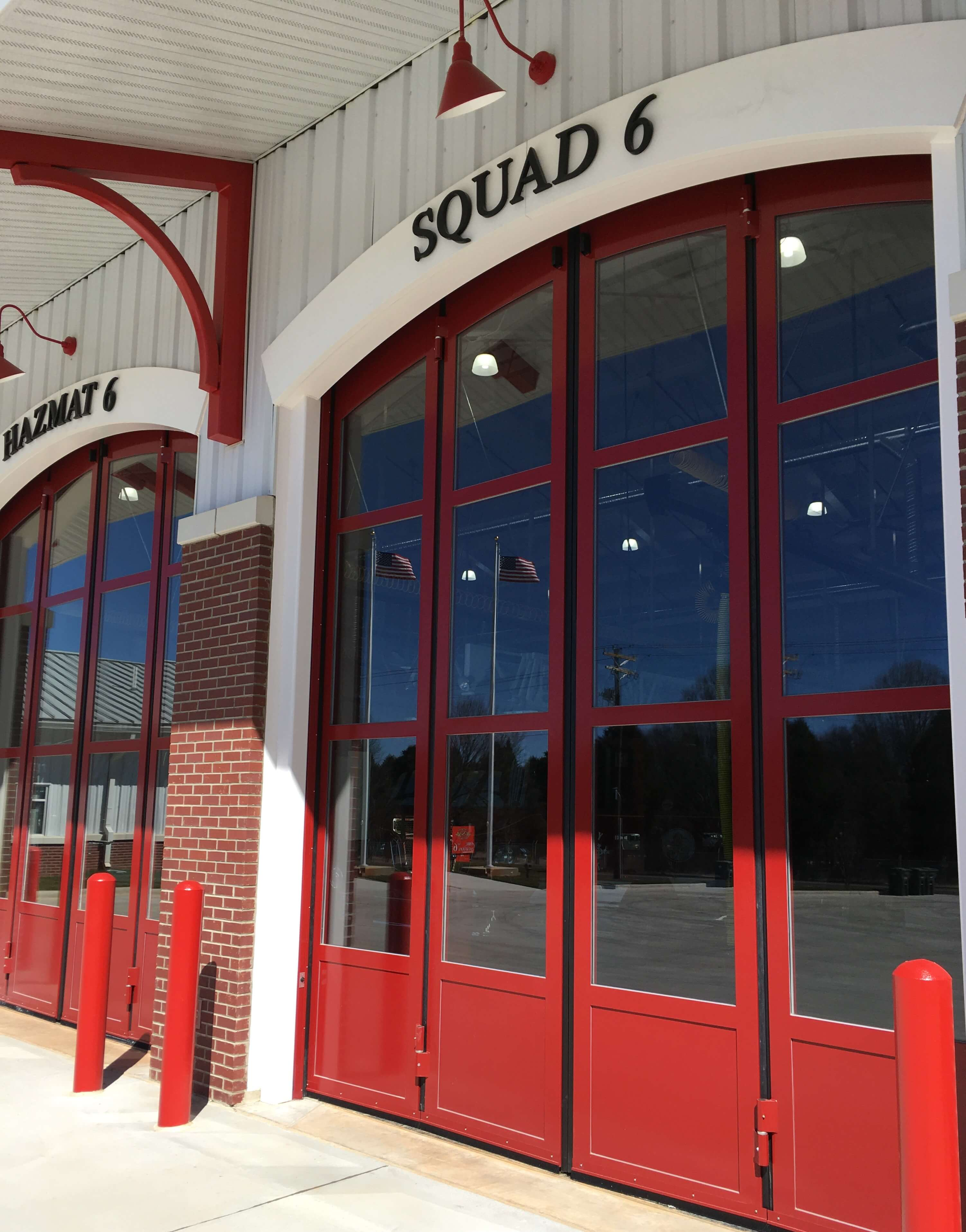 fire station exterior doors - best rated professional architects in Salisbury North Carolina